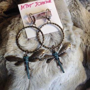 Betsy Johnson Dragonfly earrings